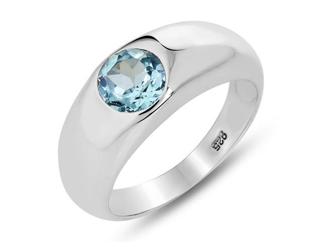Anniversary Gifts For Her Silver Single Band Ring with Single Stone