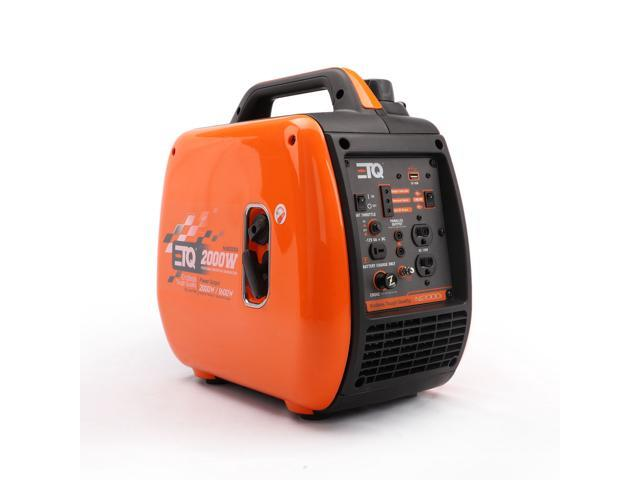 ETQ NI2000i 2000 Watt Gas Powered Inverter Generator CARB Compliant with  spark arrestor, Pure Sine Wave - Newegg com