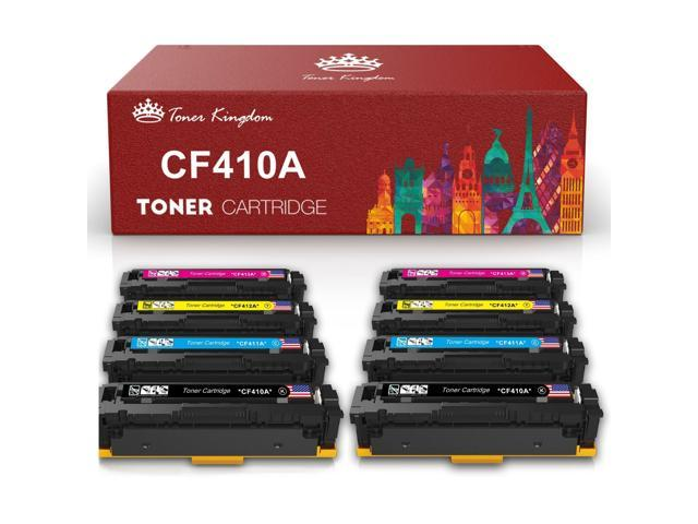 6PK Compatible With CF410A Black Toner  For HP Laserjet M452dw M452 MFP M477fnw