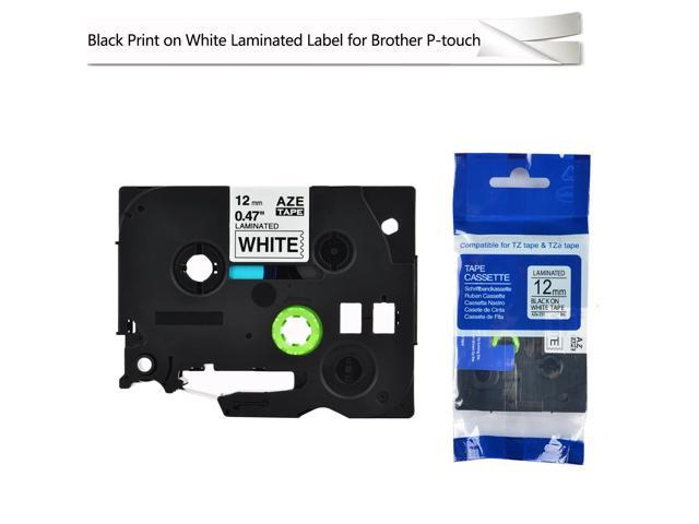 4PK 12mm Label tape For Brother P-TOUCH TZ-231 TZe-231 Black on White 26.2ft