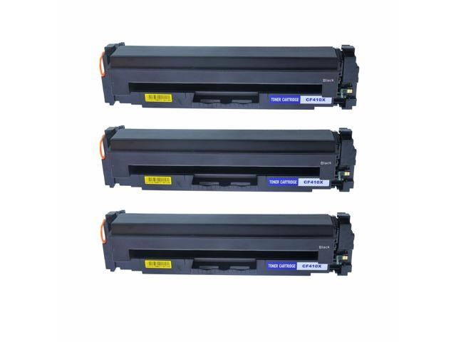 3PK Black CF410X Toner Cartridge For HP LaserJet Pro MFP M477fnw M477fdw M452dw