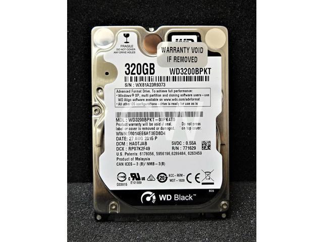 Western Digital WD3200BEKX 320GB 7200RPM SATA 6Gb//s 2.5in Laptop Hard Drive