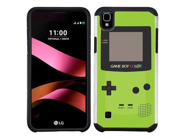 for LG Tribute HD/Volt 3 (GameBoy Color Green)Silver Hard Armor phone case  cover - Newegg com