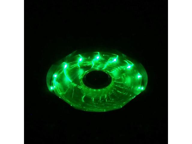 4x GREEN 120mm 15 LED Neon Light Quite 12V PC Computer Case Cooling Cool Fan Mod