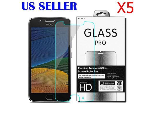 5X 9H Real Tempered Glass Screen Protector For Motorola Moto G5 / Moto G  5th Gen - Newegg com