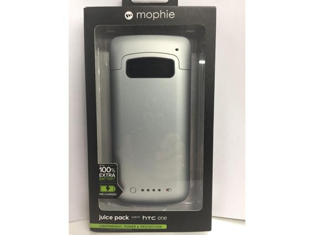 timeless design 63b60 d3d8e Refurbished: Mophie Juice Pack 100% Extra External Battery Case for HTC ONE  M7 - Silver - NEW - Newegg.com