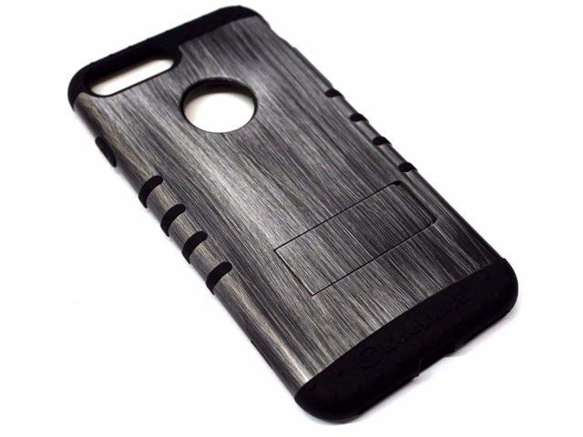 sneakers for cheap 925d5 5e7b4 For iPhone 7 PLUS - Gray Wood Design Hard Soft Hybrid Protector Rubber Skin  Case - Newegg.com