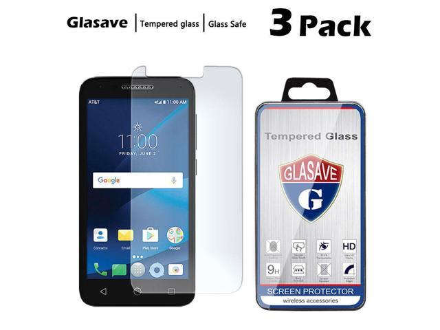 [3-Pack] Tempered Glass Screen Protector For Alcatel Raven LTE Tracfone  A574BL - Newegg com