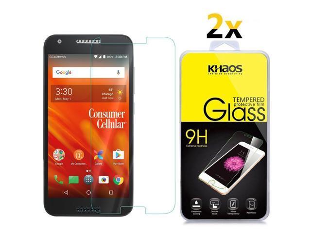 buy popular 79c7b c4243 2-Pack Khaos For Alcatel Kora (A576CC) Tempered Glass Screen Protector -  Newegg.com