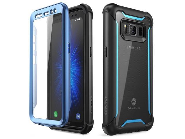buy popular 3e778 c9209 Samsung Galaxy S8 Active Case Full-body Cover w/ Built-in Screen Protector  Blue - Newegg.com