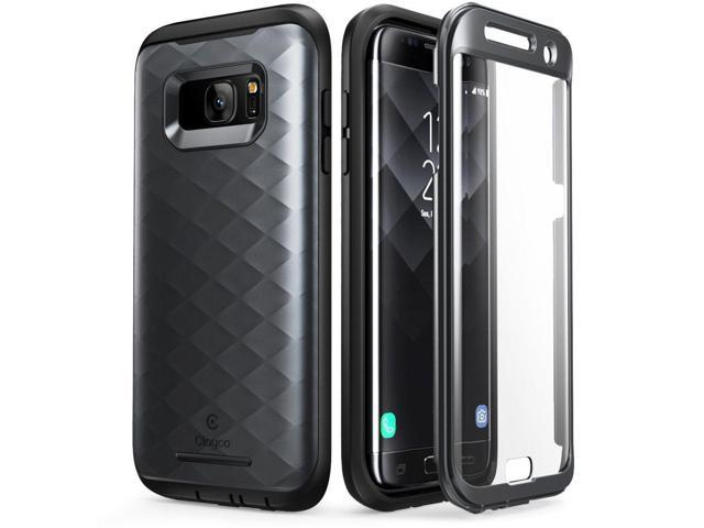 Samsung Galaxy S7 Edge Case Full-body Cover Built-in Screen Protector Black  - Newegg com