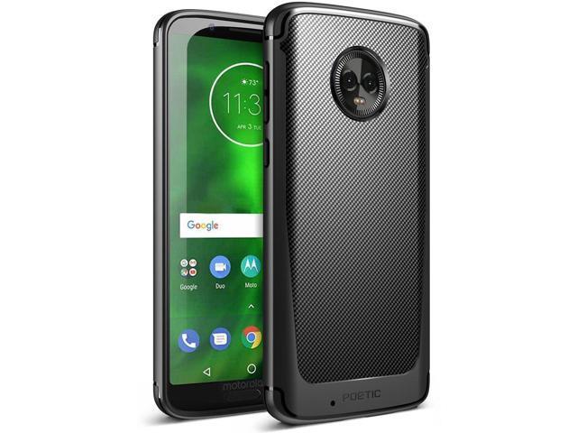 lowest price a76fa 83356 For Motorola Moto G6 Case Poetic Karbon Shield Carbon Fiber Texture Cover  Black - Newegg.com