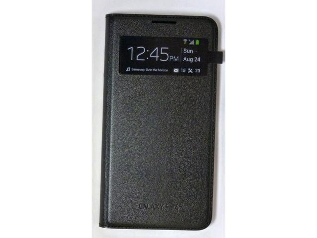 best service dd2d4 6f5c4 Refurbished: Samsung - S-View Flip-Cover Leather Case for Samsung Galaxy S4  - Black - Newegg.com