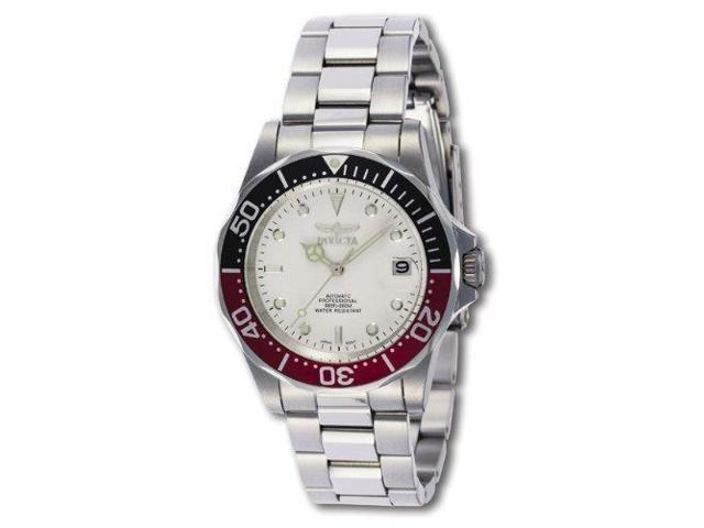Invicta Mens Pro Diver Automatic 200m White Dial Stainless Steel Watch 9404