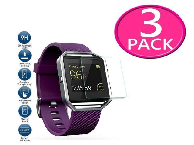 3-Pack Premium Real Tempered Glass Screen Protector For Fitbit Blaze Smart  Watch - Newegg com