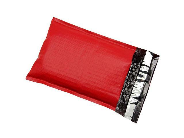100 6x10 #0 Red Poly Bubble Mailers Padded Shipping Envelopes Bags 6 x 9 Mailing