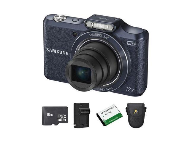 Samsung WB50F Smart Digital Camera - Black + 2 Batteries