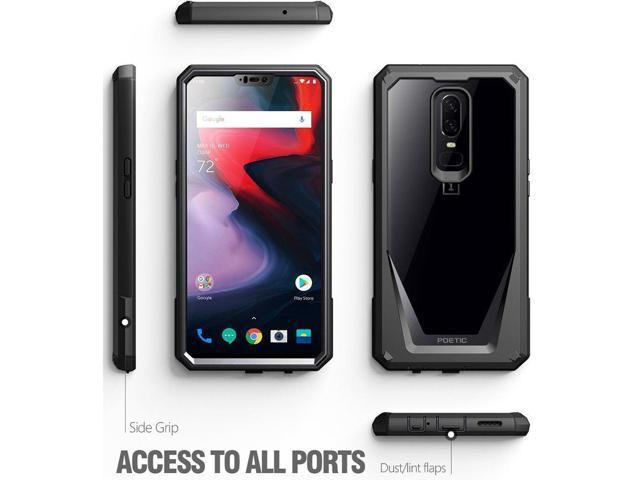 finest selection 46b0c 14899 For OnePlus 6 Case Poetic Guardian Rugged Bumper Cover With Tempered Glass  Black - Newegg.com