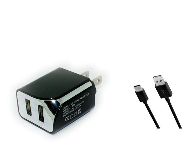 2 1A Wall Home AC Charger+USB Cable for Tracfone ZTE ZMax Duo LTE Z963VL  Z962BL - Newegg com