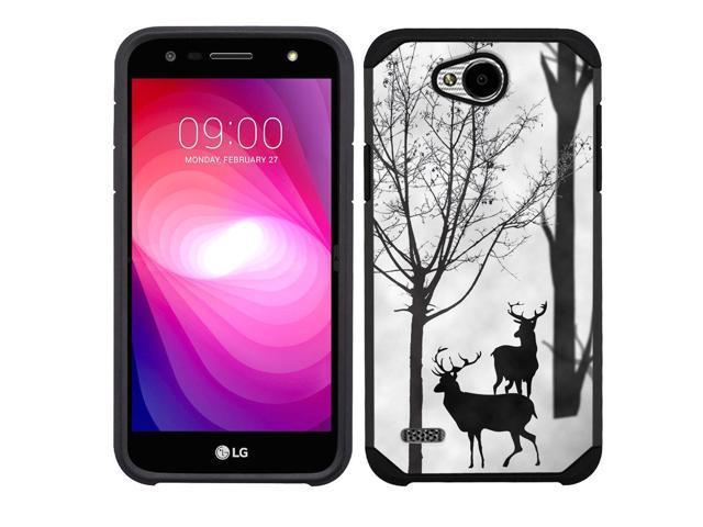 online retailer da128 97d1f 2-Layer Phone case (blk) for LG X Power 2 / LG Fiesta 4G LTE - Forest Deer  - Newegg.com