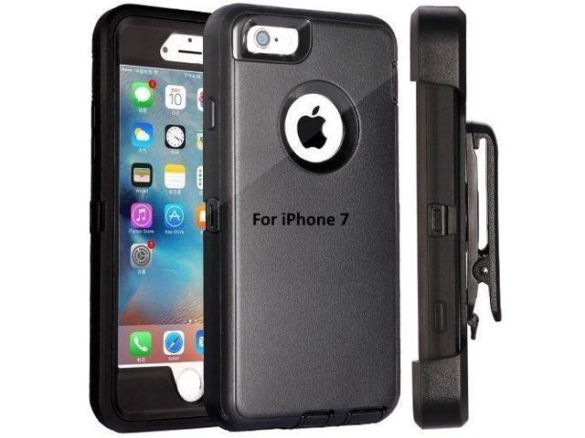 New Apple iPhone 7 Cover Triple Layer Hybrid Case & Holster - Newegg com