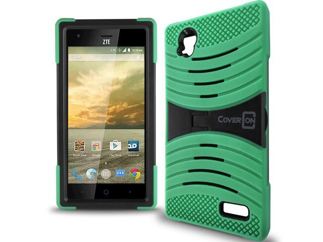 outlet store ac56a e4a23 for ZTE Warp Elite N9518 Case - Teal / Black Hybrid Tough Skin Phone Cover  - Newegg.com
