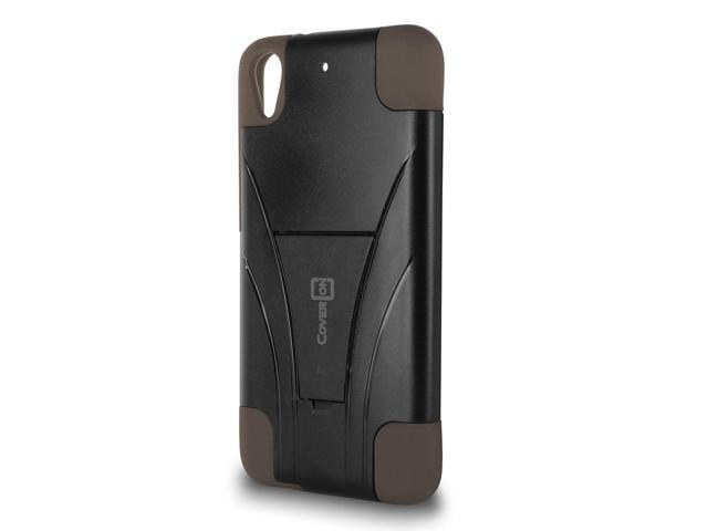 detailed look d964d ed459 For HTC Desire 626 / 626S Case - Hybrid Dual Hard Skin Phone Cover Gray &  Black - Newegg.com