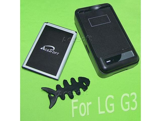 AceSoft 5870mAh Battery Battery W Travel Charger Winder for T-Mobile LG G3  D851 - Newegg com
