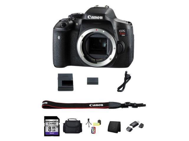 Canon EOS Rebel T6i 750D Digital SLR Camera (Body) 0591C001 8GB Best Value  Kit - Newegg com