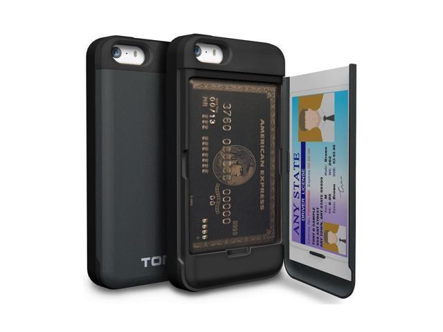 huge inventory ab573 962f5 iPhone SE Case, TORU [iPhone SE Wallet Case] Protective Slim Fit Dual Layer  H... - Newegg.com