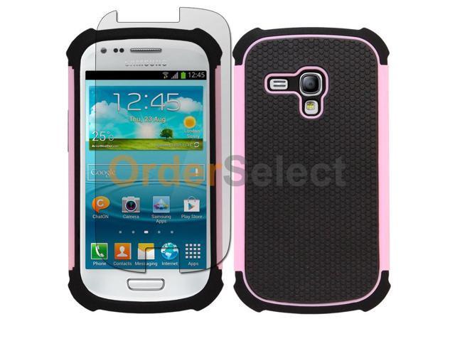 lowest price 5cbef 0da05 Hybrid Rubber Case+LCD Screen Protector for Samsung Galaxy S3 Mini Pink  100+SOLD - Newegg.com