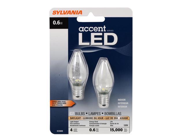 C7 Led Bulb >> Sylvania 78563 0 6 Watt Accent Led C7 Night Light Bulb Pack Of 2 Newegg Com