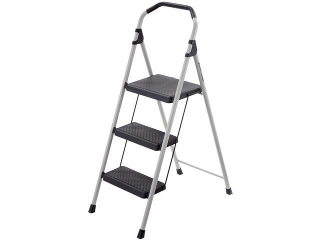 Peachy 3 Step Ladder Lightweight Step Stool Indoor Outdoor Steel Pabps2019 Chair Design Images Pabps2019Com