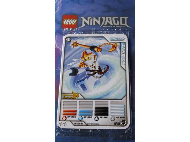 LEGO NINJAGO ZANE ZX CHARACTER CARD /& 4 BATTLE CARDS SEALED