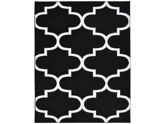 Garland Rug Large Quatrefoil Area 8 X 10 Black White Feet By Newegg