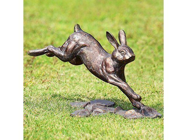 Spi Home Running Rabbit Garden Statue Sturdy New