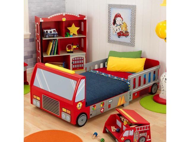Fire Engine Toddler Bed.Kidkraft Fire Truck Toddler Bed 76021