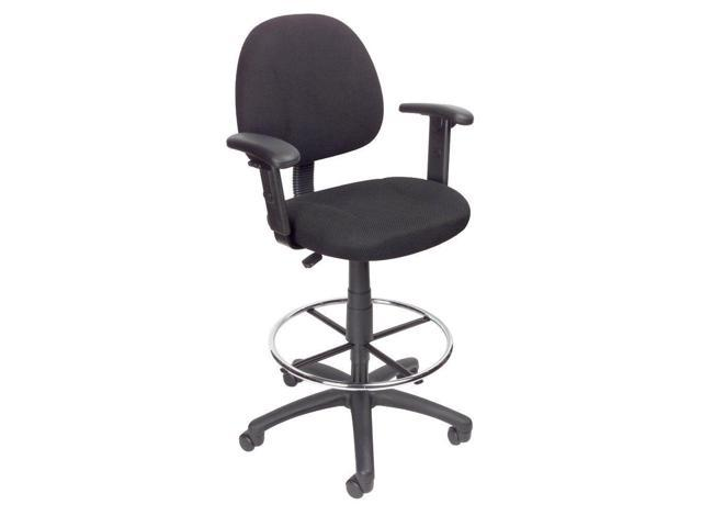 Boss Office Products Blk Drafting Stool W Footring
