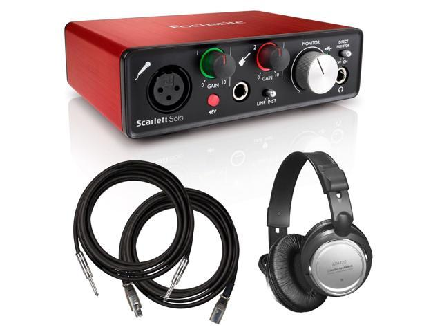 Focusrite Scarlett Solo (2nd Gen) USB Audio Interface BONUS PAK - Newegg com