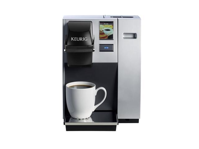 keurig k150 single cup commercial k-cup pod coffee maker, silver(direct  plumb