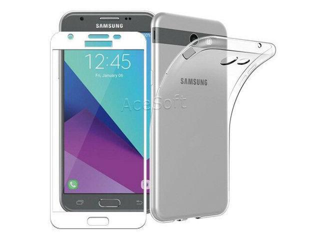 new concept efe9a 8a5d2 Full Coverage Screen Protector Film TPU Case for Samsung Galaxy J3 Mission  J327V - Newegg.com