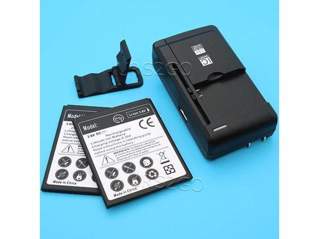 High Power 2x 2400mAh Battery Desktop Charger Bracket for ZTE ZFIVE C LTE  Z558VL - Newegg com