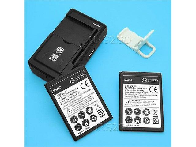 High Power 2x 2300mAh Battery+Charger Bracket for Tracfone