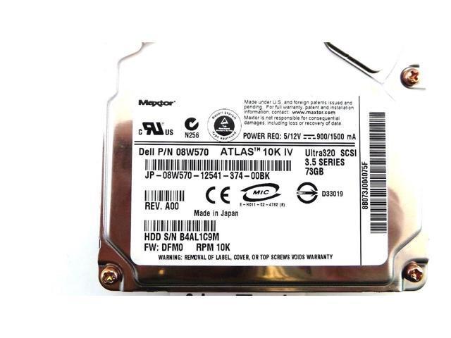 Internal Hard Drive Dell 8W570 73GB