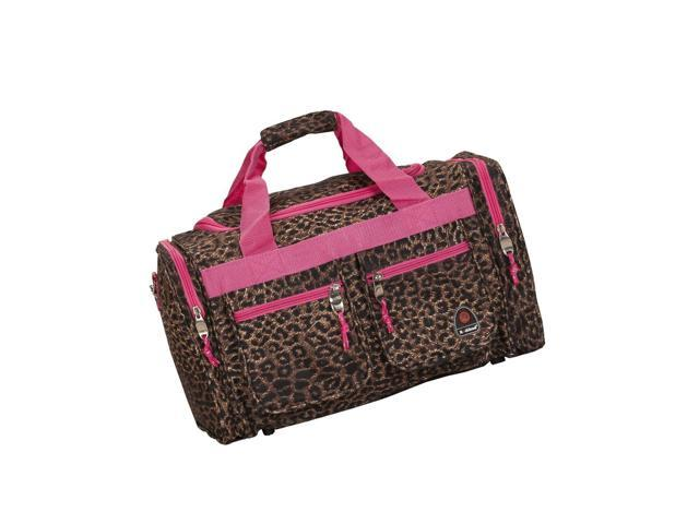 133d62d771d4 Rockland Luggage 19-Inch Tote Bag, Pink Leopard, One Size - Newegg.com