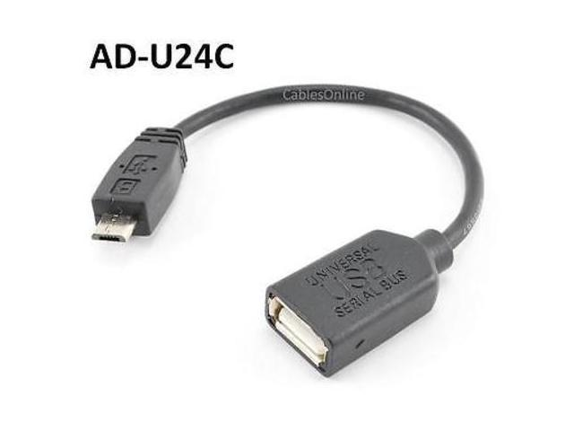 AD-U24C 4 USB A-Type Female to Micro-B 5-Pin Male Adapter Cable