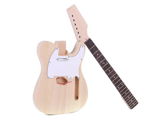 Tl Style Lt Unfinished Diy Electric Guitar Kit Basswood Body Diy Kit Set G2t0 Newegg Com