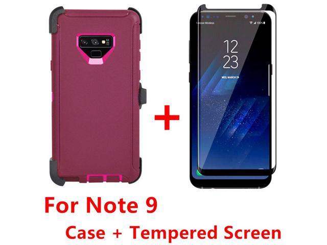 brand new c983d 26c21 For Samsung Galaxy Note 9 Case W/Screen (Clip Fits Otterbox Defender)Red  Pink - Newegg.com