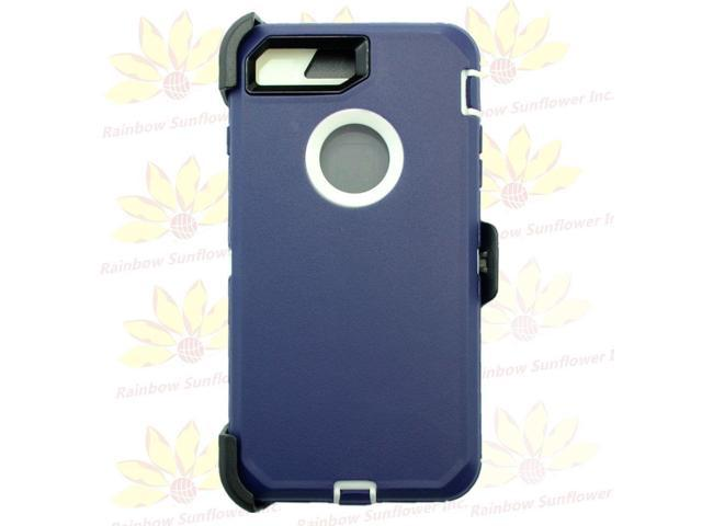 reputable site d7037 0e506 Navy WT For Apple iPhone 8 Plus Case w/ Screen & Clip (fits Otterbox  Defender) - Newegg.com
