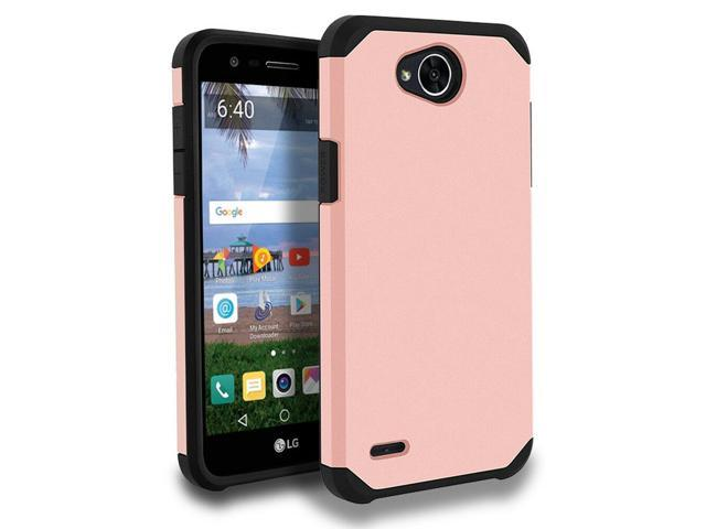 official photos ea723 42306 FOR LG FIESTA 2 L163BL/ X CHARGE ROSE GOLD BLACK ASTRO CASE IMPACT RUGGED  COVER - Newegg.com